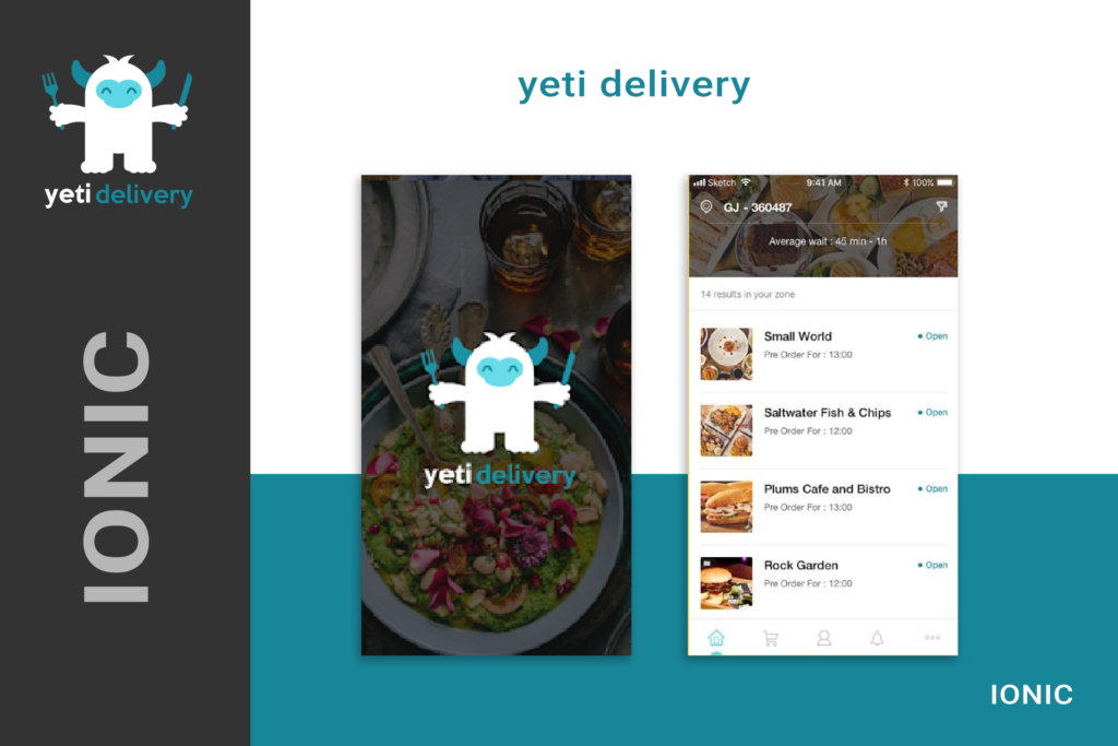 Yeti Delivery IONIC Application Development