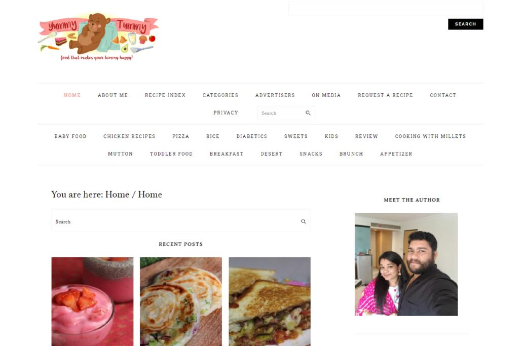 Yummy Tummy CMS Website Designing